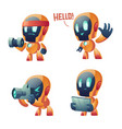 cute chat bot cartoon conversation robot vector image