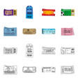 design of ticket and admission icon vector image vector image