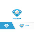 diamond and graph logo combination jewelry vector image vector image
