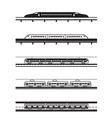 different types passenger trains vector image