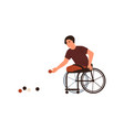 disabled male playing petanque sitting vector image vector image