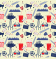 flat seamless pattern with cinema attribute vector image vector image