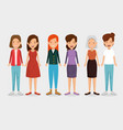 group of women friends characters vector image vector image