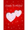 happy birthday whit love vector image vector image