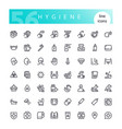hygiene line icons set vector image vector image