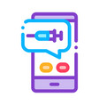 injection mobile app icon outline vector image