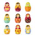 matryoshka toy russian symbol or souvenir vector image