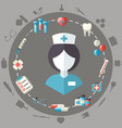 medical healthcare doctor flat icons set vector image vector image