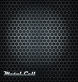 Metal cell background with shining label vector image