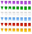 multicolored bright flags garlands isolated on vector image