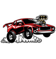 muscle car look with supercharged engine vector image vector image