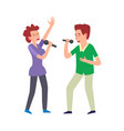music performance by duo couple man and woman vector image vector image