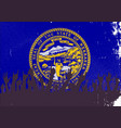 nebraska state flag with audience vector image