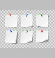 note papers white blank sticky notes with color vector image