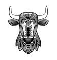 Ornamental Black Bull vector image vector image