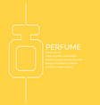 perfume poster in a linear style on vector image vector image