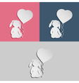 Rabbit child with heart balloon vector image vector image