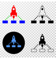 rocket links eps icon with contour version vector image vector image