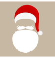 Santa Claus cap beard and mustache vector image