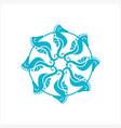 seahorse logo design vector image vector image
