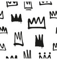 seamless pattern of sprayed crowns with overspray vector image