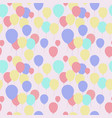 seamless pattern with repeating pink balloons vector image vector image