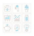 set of business or finance icons and concepts in vector image vector image