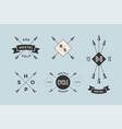 Set of emblem label and design elements
