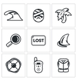 Set of Emergency Service Icons Tsunami vector image vector image