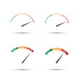 set of four simple color tachometers vector image