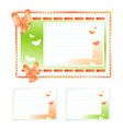 Set of Gift Cards Made of cloth vector image