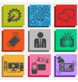 Set of media communication and hipster elements vector image vector image