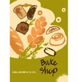 Set of of bread and roll for menu vector image vector image