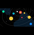 solar system - colorful flat design style vector image