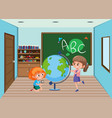 student in the classroom vector image