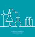 The concept of chemical science research lab vector image vector image
