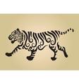 tiger ornament decoration vector image vector image