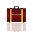 travel bag in brown color vector image