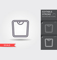 weight scale line icon with editable stroke vector image vector image