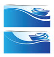 Yacht boat banner vector image vector image
