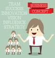 popular businessman group with innovate business c vector image