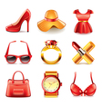 set fashion vector image