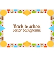 Back to school background with frame vector image
