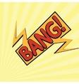 cartoon bang-12 vector image
