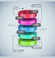 realistic 3d business diagram vector image