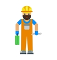Cartoon worker character vector image