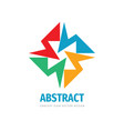 abstract concept logo social media sign business vector image vector image