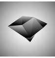 Abstract Creative concept icon of black diamond vector image vector image