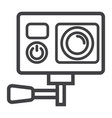 action camera line icon device and electronic vector image vector image