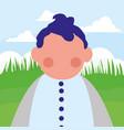 avatar baby icon vector image